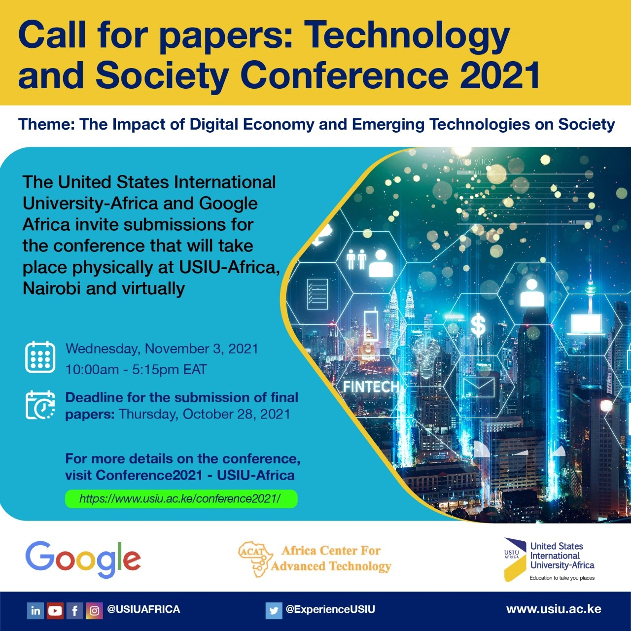 TECHNOLOGY AND SOCIETY CONFERENCE 2021