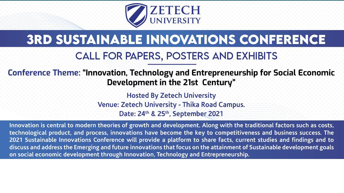 3rd Sustainable Innovations Conference